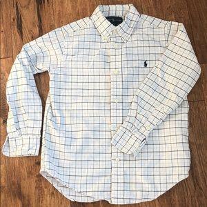 Ralph Lauren button down plaid  long sleeve shirt
